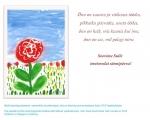 """Sünnipäeva e-kaart """"Tulipunane roos"""""""