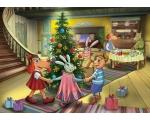 """Tekstiga kaart """"Lotte jõulud"""" suurem formaat (A5)"""